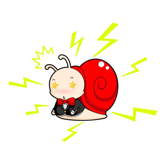 如果蜗牛有爱情动漫手绘