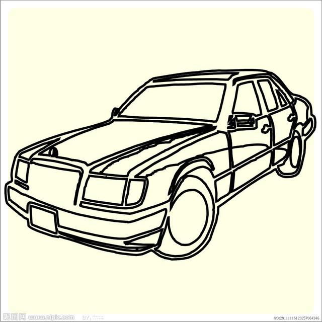捷豹汽车标志简笔画教我步骤