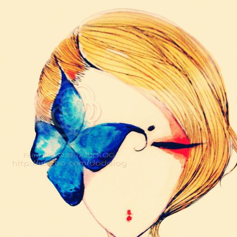 微信头像丑女手绘